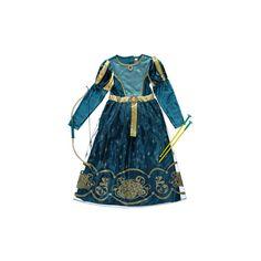 George Disney Princess Merida Costume (25 NZD) ❤ liked on Polyvore featuring blue