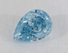 1.4ct Vivid greenish-Blue FaCT | B Pear Shaped Diamond