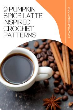 These 9 Pumpkin Spice Latte Inspired Crochet Patterns These Patterns are so cute and fun and are perfect for you! Pumpkin spice latte crochet patterns are just so fun to make you will have so much fun making. Happy Fall!!! #9PumpkinSpiceLatteInspiredCrochetPatterns #PumpkinSpice #CrochetPatterns Primitive Fall Crafts, Pumpkin Spice Latte, Happy Fall, Fall Decor, Free Pattern, Crochet Patterns, Spices, Make It Yourself, Inspired