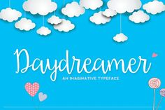 DayDreamer Script Fonts Daydreamer is a beautiful new hand drawn font. Available for both personal and commercial use. Downl by Emily Spadoni Cursive Fonts, Typography Fonts, Handwriting Fonts, Bold Fonts, New Fonts, Fancy Fonts, Font Creator, Web Design, Graphic Design