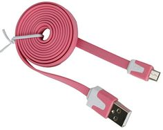 """myLife Light Rose Pink {Solid Flat Noodle Design} 6' Feet (1.8 Meter) Quick Charge USB 2.0 Micro USB to USB Data Sync Cord for Phones, Cameras, Tablets and GPS Devices """"SEE COMPATIBILITY"""" (Durable Rubber Coat) myLife Brand Products http://www.amazon.com/dp/B00O99UJNG/ref=cm_sw_r_pi_dp_xv.tub1FF6RQR"""