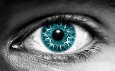 Olho Azul com efeito
