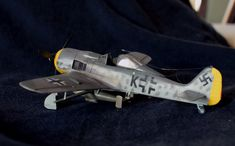 Fw.190 F-8 with Hagelkorn bomb. Revell 1/72 Fighter Jets, Aircraft, Models, Vehicles, Aviation, Plane, Airplanes, Planes, Fashion Models