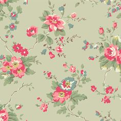 Explore amazing art and photography and share your own visual inspiration! Vintage Flowers, Floral Flowers, Florals, Background Vintage, Background Patterns, Fabric Patterns, Print Patterns, Cath Kidston Wallpaper, Illustration Blume