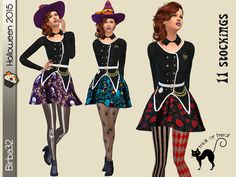 The Sims Resource: Halloween stockings by Birba32 • Sims 4 Downloads