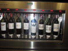 Interesting way for us to taste the most expensive Bordeaux wines, some of them like the Chateau Latour costing close to $1,000 a bottle.