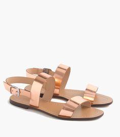 j.crew metallic leather sandals