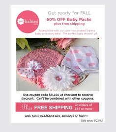 60% off Baby Packs! With coupon code FALL60!