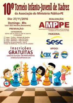 Emídio José Xadrez: 10º Torneio de Xadrez da Assoc.do Ministério Público de Pernambuco