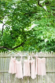pink bridesmaid dresses by amsale