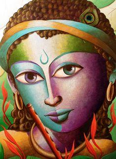 Krishna@16-Lord Krishna Painting Series