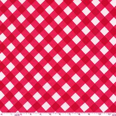 Bias Gingham Red from the Kitchen Collection fabric collection from Michael Miller Fabrics.