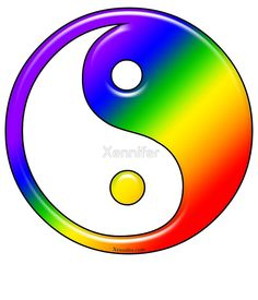 Rainbow Yin Yang Available as T-Shirts & Hoodies, Stickers, iPhone Cases, Samsung Galaxy Cases, Home Decors, Tote Bags, Prints, Cards, Leggings, and iPad Cases