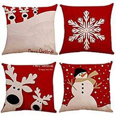 AM/_ Christmas Tree Car Pillow Case Square Cushion Cover Sofa Bedroom Home Decor