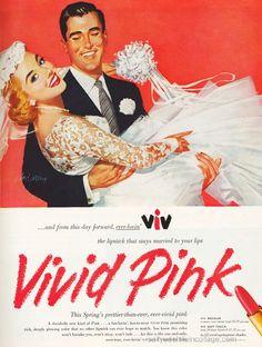 Viv Lipstick Ad 1956