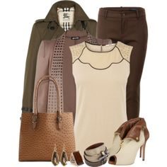 Browns, created by mona07 on Polyvore