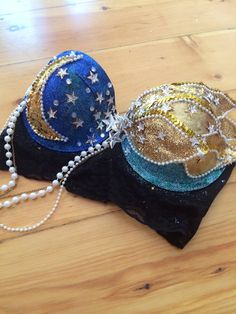 Sun and Moon Rave Bra // Rave Outfit 32B by whythecagedbirdsings