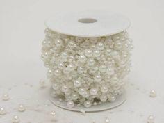 9 mm WHITE PEARLS 62 yards Garland BEADS Wedding Party CENTERPIECE Decorations in Home & Garden | eBay