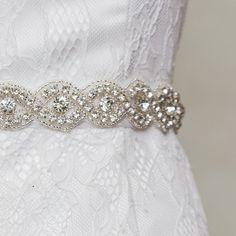 Azaleas Women's Shiny Beaded Bridal Sash Wedding Dress Belts with Crystal Ivory One Size at Amazon Women's Clothing store: