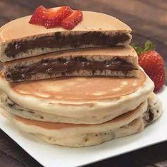 Think Food, I Love Food, Best Pancake Recipe, Pancake Recipes, Pancake Ideas, Breakfast Recipes, Mexican Breakfast, Sunday Breakfast, Waffle Recipes