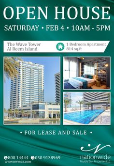 Join Us in Our Open House on Saturday, Feb.4, 2017 at 10-5PM in This Deluxe Waterfront Tower on Al Reem Island.  For More Details Call 0509138969 I 800 1 44 44  #OpenHouse#Invitation#inAbuDhabi #AbuDhabiRealestate#AbuDhabiProperties #HomeSearch#HouseHunting#Nationwide#Apartment#Investment#DreamHouse#LuxuryIsUS#HomeSweetHome #AlReemIsland#AbuDhabiTowers