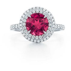 Tiffany Soleste Rubellite Ring ($8,200) ❤ liked on Polyvore featuring jewelry, rings, rubellite ring, tiffany co rings, tiffany co jewelry, pink tourmaline jewelry and tiffany co jewellery