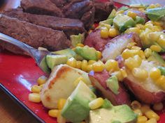 Grilled Avocado and Potatoes