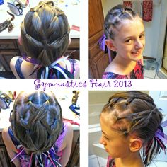 Hairstyle for gymnastics or a fun style for medium to long hair