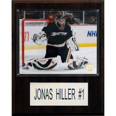C Collectables NHL 12x15 Jonas Hiller Anaheim Ducks Player Plaque