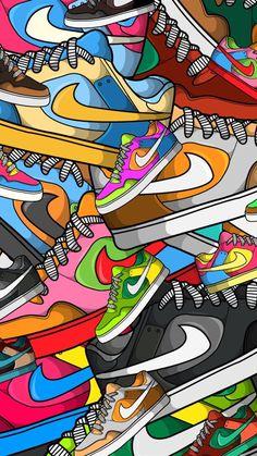 Sneakers wallpaper just do it 36 trendy Ideas sneakers is part of Nike wallpaper - Cartoon Wallpaper, Nike Wallpaper Iphone, Crazy Wallpaper, Hype Wallpaper, Pop Art Wallpaper, Iphone Background Wallpaper, Iphone Backgrounds, Trendy Wallpaper, Screen Wallpaper