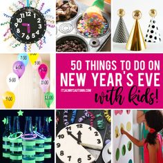 New Year's Eve Games For Family, Family New Years Eve, New Year's Games, New Years Eve Day, New Years Eve Party Ideas Food, New Years Eve Games, New Years Eve Decorations, Countdown For Kids, New Year's Eve Countdown