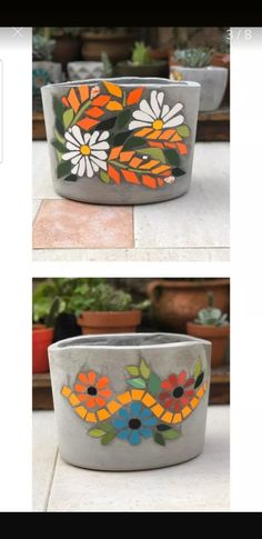 Mosaic Crafts, Mosaic Art, Mosaic Glass, Stained Glass, Mosaic Flower Pots, Mosaic Designs, Quilling, Planter Pots, Creations