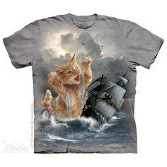 Krakitten Kitty Cat Kraken Attacking Ship Ceramic Coffee Mug Cup 15 oz Black
