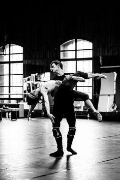 Sergei Polunin and Natalia Osipova in rehearsals for Satori. Photo by Srđan Srđenović