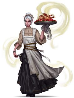 """we-are-rogue: """" Pathfinder Campaign Setting: Inner City Intrigue. Do not underestimate the sneakiness! [Merisiel servant, by Konstantin Vavilov / Paizo] @weareinnkeeper, here's a rogue who most definitely did not disguise as an innkeeper, but merely..."""