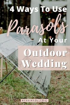 We all love an outdoor summer wedding, however, there is one factor that can put some people off the bright – hot sun. There are many creative ways to create shade at your outdoor wedding or backyard wedding using an umbrella so that you and your guests can feel more comfortable in the summer heat. Check out these 4 creative ways to use parasols at your outdoor wedding to create shade, paper parasols for decorations, and how to use them for wedding umbrella pictures Summer Wedding Decorations, Summer Wedding Invitations, Personalised Wedding Invitations, Personalized Wedding, Beach Wedding Aisles, Wedding Mandap, Wedding Ceremonies, Barn Wedding Photos, Umbrella Wedding