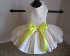 Items similar to Dog Dress XS  pink with white polkadotstutu by Nina's Couture Closet on Etsy