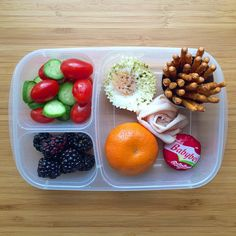 Protein and fruit packed lunchbox! Packed in #EasyLunchboxes container