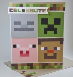 Minecraft Birthday Card Printable - 24 Minecraft Birthday Card Printable , 34 Printable Thank You Cards for All Purposes Minecraft Cards, Minecraft Birthday Card, Birthday Cards For Boys, Handmade Birthday Cards, Lego Minecraft, Card Birthday, Minecraft Skins, Minecraft Buildings, Diy Birthday