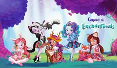 Enchantimals dolls are a group of lovable girls who have a special bond with their animal friends, and even share some of the same characteristics. Girls Birthday Party Themes, Girl Birthday, Birthday Parties, Mattel, More Fun, Tea Party, Chibi, Cute Animals, Floral Prints