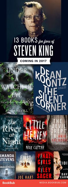 Scary books to read this year. Perfect for fans of Stephen King!