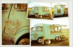 The Little Green Van Company - I'm besotted with their rustic kitsch fit out complete with bunting and repurposed crates.