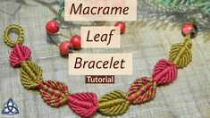 Hi Friends, In this Macrame Tutorial Ill show you How to make Macrame leaf bracelet Pattern .This Macrame pattern is very easy one and in 20 minutes you will master it. Macrame craft willTwo filaments of stocky silver grains make an elegant wrap for the Jewelry Knots, Macrame Jewelry, Macrame Bracelets, Handmade Bracelets, Macrame Knots, Loom Bracelets, Ankle Bracelets, Silver Bracelets, Tutorials