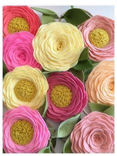 ROSE GARLAND // Felt Flower Garland // Floral by HoneyCrown