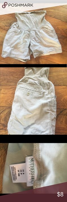 Motherhood Linen khaki shorts Classic style and cool for summertime. Perfect condition Motherhood Maternity Shorts