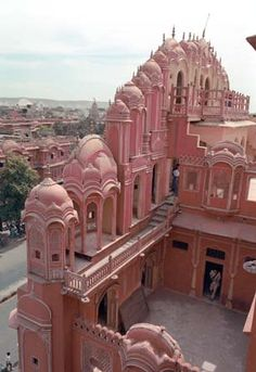 The Palace of the Winds inside facade, Jaipur, India