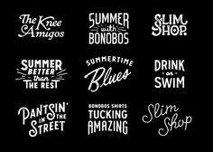 Lettering Works of Dan Cassaro | Abduzeedo Design Inspiration