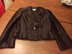 TALBOTS womens 10P petite Chocolate silk blend dress suit jacket in Clothing, Shoes & Accessories, Women's Clothing, Suits & Blazers | eBay