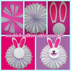 Simple and Easy Newspaper Bunny Craft - Fun Crafts For Kids, Diy Arts And Crafts, Preschool Crafts, Paper Crafts, Rabbit Crafts, Bunny Crafts, Easter Art, Easter Crafts For Kids, Diy Y Manualidades