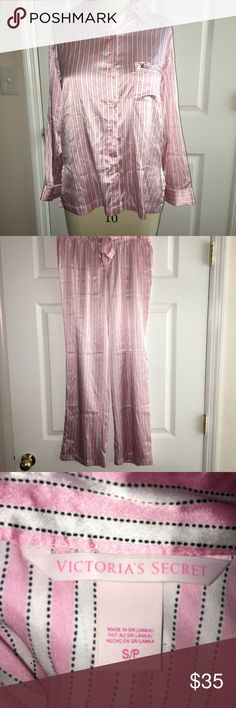 NWOT Victoria's Secret Pajama Top and Bottom Set Victoria Secret Pajama Set! Very cute and silky soft! Perfect for lounge days!  In excellent condition! PINK Victoria's Secret Intimates & Sleepwear Pajamas